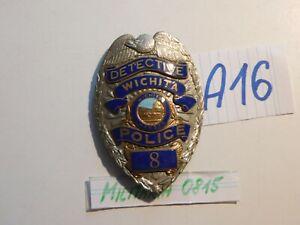 Polizei Sammlungs Auflösung , Abzeichen USA Detective Wichita Police   A 16