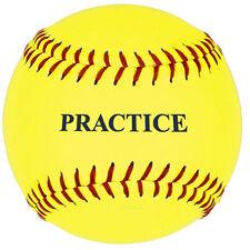 "11"" Yellow Practice Softball - 1 Dozen"