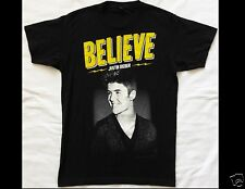 JUSTIN BIEBER Believe Size Small Black T-Shirt