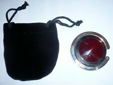 JOEY JUNIOR Purse Handbag Hook Table Hanger New In Velvet Pouch Red Gemstone