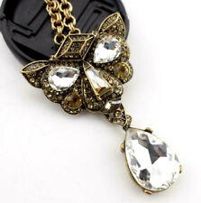 Charm Pendant Betsey Johnson Jewelry palace Leopard head Water droplets necklace