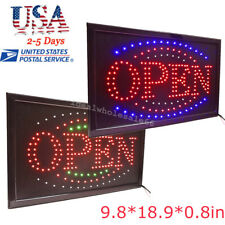 Animated Led Open Store Shop Business Sign 9.8*18.9in Neon Flash Display Lights