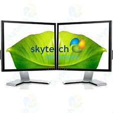 "2x 17"" monitor VGA a buon mercato TFT LCD Ufficio Laptop Gaming Computer PC Dual Monitor B"