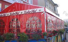 Festzelt Partyzelt Bierzelt PROFIZELT 4x12m / 3x Fenster / Rot