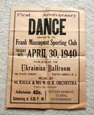 1940 ~ Vintage Dance Flyer ~ Perth Amboy, NJ ~ Ukrainian Ballroom