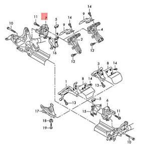 Genuine AUDI A6 Allroad qu. quattro Avant S6 Hydro-Mounting Right 4G0199381PM