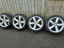 """4X GENUINE AUDI S LINE A5 A6 A7  18"""" ALLOYS WHEELS WITH TYRES"""