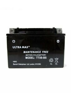 Ultramax TTX9-BS, 12V, 8Ah, Motorcycle Battery Free Delivery REPLACES YTX9-BS