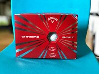 New Callaway Chrome Soft WHITE Golf Balls - 1 Dozen