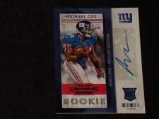 MICHAEL COX NEW YORK GIANTS ROOKIE SIGNED AUTOGRAPHED CERTIFIED CARD