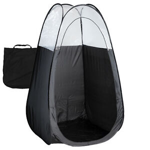 Black Spray Tanning Tent with Carry Bag