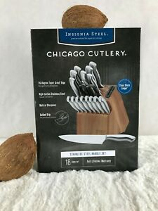 Chicago Cutlery Insignia 18-Piece Cutlery Block Set w Built-in Sharpener 1135029