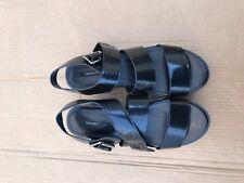 Forever 21  Faux Leather Flatform Sandals black size 8