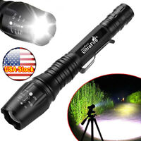 Tactical 350000LM Zoomable Focus LED High Power Flashlight Quality Torch US
