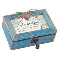 Grandma a Smile in My Heart Jewelry Music Box Plays Tune Wind Beneath My Wings