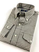 Ralph Lauren Men's Twill Work Shirt Grey Shepherd Checks Custom Fit RRP £145