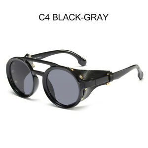 Retro Steampunk Sunglasses Men Women Fashion Round Vintage Unisex Eyewear UV400