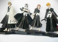 new lot of 4 anime BLEACH  Kurosaki Ichigo BYAKUYA orihime inou figures set #de3