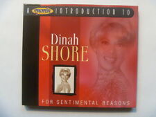 Dinah Shore - Proper Introduction To (For Sentimental Reasons) DIGIPAK CD