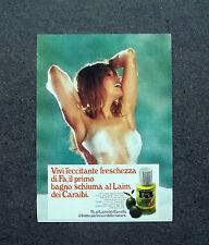 K568- Advertising Pubblicità -1973- FA , IL BAGNO SCHIUMA AL LAIM DEI CARAIBI