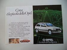 advertising Pubblicità 1982 OPEL CORSA