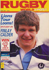 RUGBY WORLD MAGAZINE APRIL 1989 - PERFECT GIFT FOR A FAN BORN IN THIS MONTH