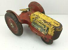 Vintage Marx Tin Toy Tractor Litho USA Steel Play Farm Metal