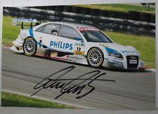 PHOTO cm 13x19 signed by Lucas Luhr AUDI A4 DTM ROSBERG #12 BRANDS HATCH 2007