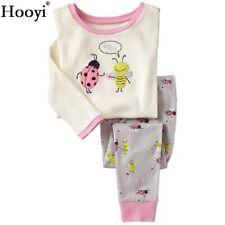 Baby Bee Mine Pajamas Suit Cotton Long Sleeve Shirt Pant Girl Sleepwear