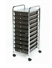 Seville 10 Drawer Rolling Scrapbook Office School Tools Storage Organizer Cart B