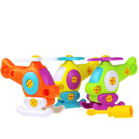 Kid Puzzle Educational Toys Airplane Disassembly Assembly Cartoon Toy Aircraft~!