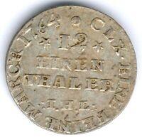 Meckl.-Strelitz Adolph Friedrich (1752-1794) 1/12 Taler 1764 Kunzel: 596 A/a, ss