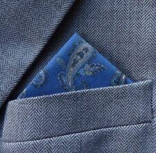SUPERNOVA Blue Paisley Pocket Handkerchief Square Scooter Mod Crombie