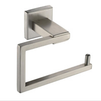 Brushed Nickel Bathroom Toilet Paper Holder Wall Mount Roll Tissue Paper Holder
