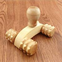 Wooden Roller Relaxing Massage Tool Reflexology Face Hand Foot Back Body Therapy