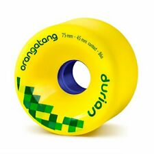 Orangatang Durian 75 mm 86a Freeride Longboard Skateboard Wheels Yellow Set of 4