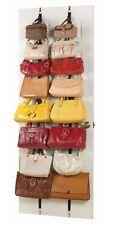 2 Racks Hanging Purse Handbag Bag Storage Over The Door Stand Organizer Closet