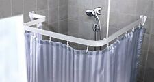 Universal Flexible chrome Shower/Bath curtain track with Fittings