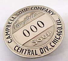 1940's WWII CAMPBELL SOUP CO. Central Div. CHICAGO employee pinback badge +