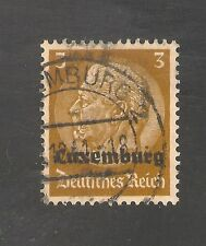 Luxembourg #N1 (A64) VF USED - 1940 3pf Germany President Von Hindenburg