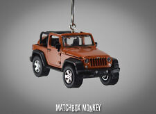 2014 Jeep Wrangler Open Top Unlimited Custom Ornament 1/64 Mango Tango CJ XJ
