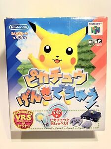 Hey You, Pikachu Genki Dechu Nintendo 64 Boxed with Mic Very Good! U.S Seller JP