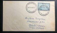 1964 Haapai Tonga Toga Island cover To Vavau