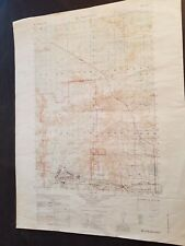 1940's Army Topo Map Millston Wisconsin 2872 II Camp McCoy