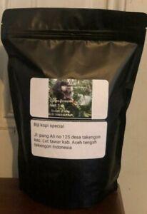 1 lb authentic  kopi luwak gayo 100% Wild Civet Whole Beans  Coffee Roasted