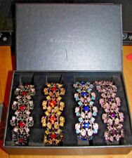 Danbury Mint Set Of 4 Beautiful Crystal Bracelets New In Box