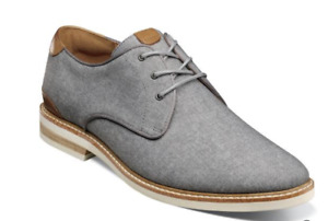 Florsheim Highland Canvas Plain Toe Oxford Shoes Gray  14273-020