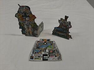 He-Man MOTU Complete Set of 3 Repro Cardboard Cutouts for Castle Grayskull