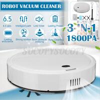 3in1 1800Pa Robot Vacuum Cleaner Pet Hair Sweeper Carpet Hardwood Floor