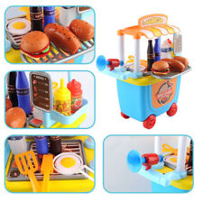 Kids BBQ Set Pretend Role Play Cooking Fun Time Barbecue play kit Food Cart Toys